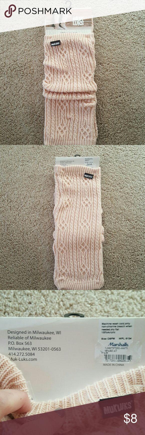 Muk Luks leg warmers. NWT Pale Pink Muk Luk leg warmers. NWT Muk Luks Accessories Hosiery & Socks