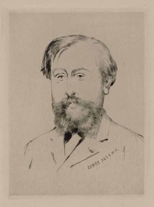 Abbema Louise,1900 - Adolphe Lalauze - Eau forte.