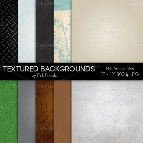 Check out Textured Vector & Clipart Backgrouds by PinkPueblo on Creative Market
