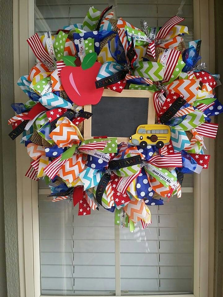 Classroom Wreath Ideas ~ Best teacher mesh wreaths ideas on pinterest wreath