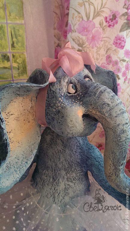 Розовые мечты о сладкой жизни))) - слон,слоник,животные,игрушка,авторская игрушка
