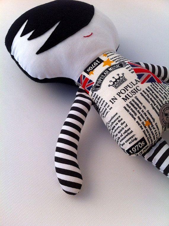 Brit lad, Boy rag doll, best gift for girls and boys, Handmade stuffed, cuddle doll, doll also for boys