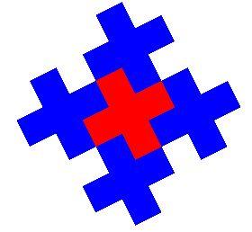 Fractals de Gosper cette île de Gosper pave aussi le plan en un pavage coloriable en 2 couleurs