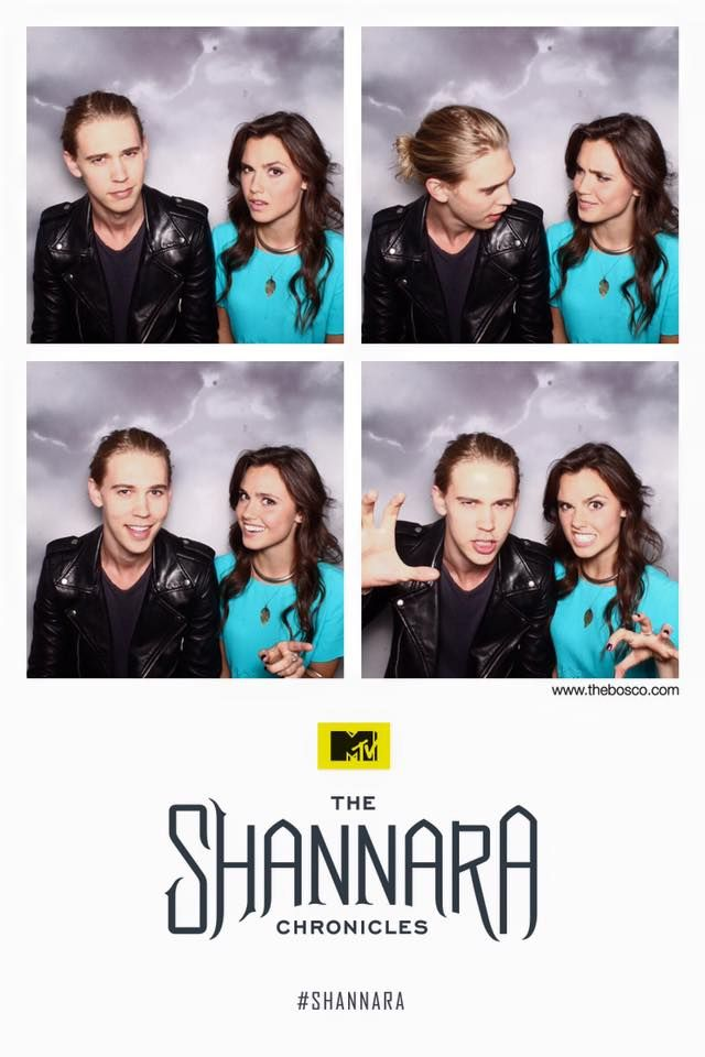 Wil and Amberle! Here's Austin Butler and Poppy Drayton at our  New York Comic-Con screening of The Shannara Chronicles tonight.