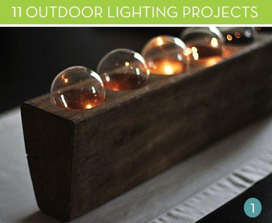 23 best images about DIY outdoor lighting on Pinterest  Lighting
