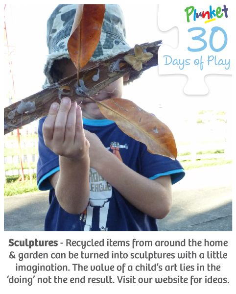 Create sculptures with your little one today #30daysofplay