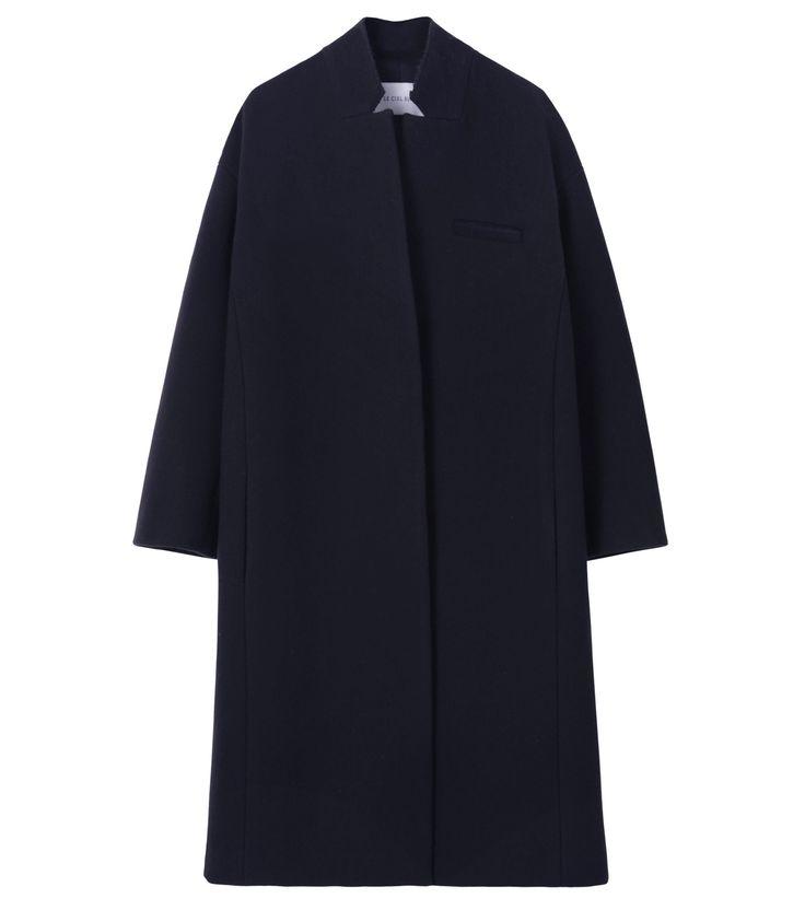 ダブルフェイススタンドカラーコート-93 Le Ciel Bleu Double Face Chester Coat