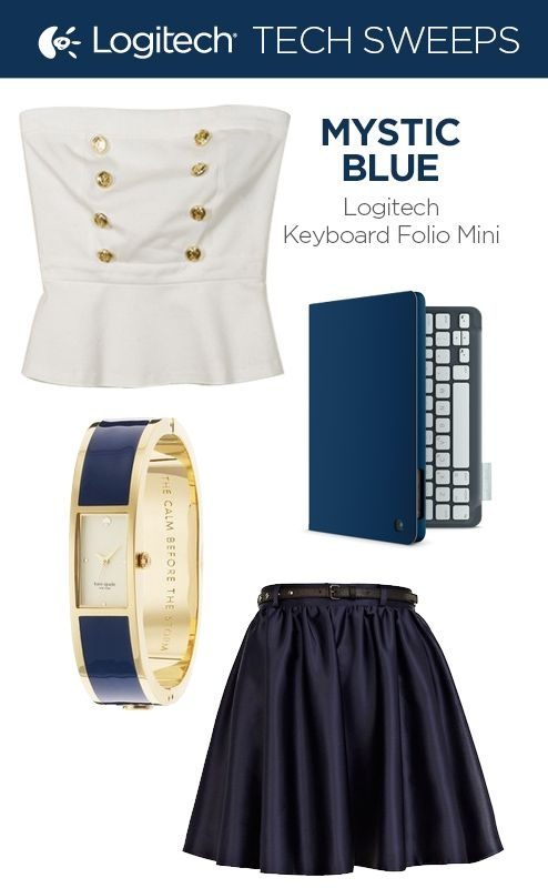 Repin and then click on the image to enter for a chance to win the Logitech Keyboard Folio Mini in Mystic Blue.
