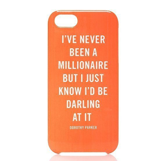 -Dorothy Parker, case by Kate Spade