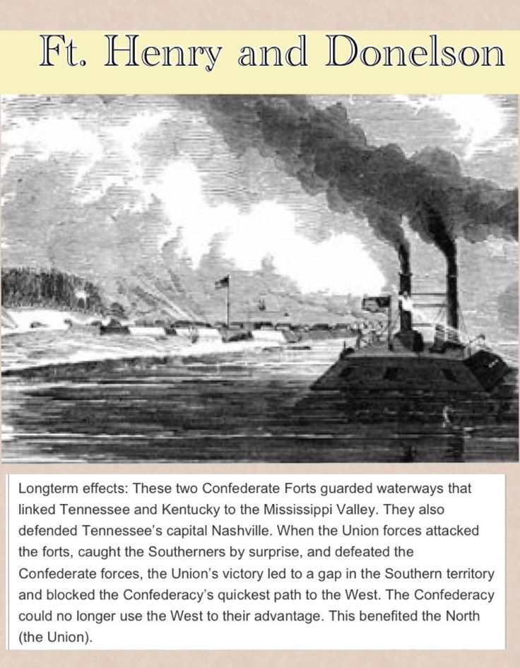 at uploaded by user henry and donelson ft henry ft donelson war ft