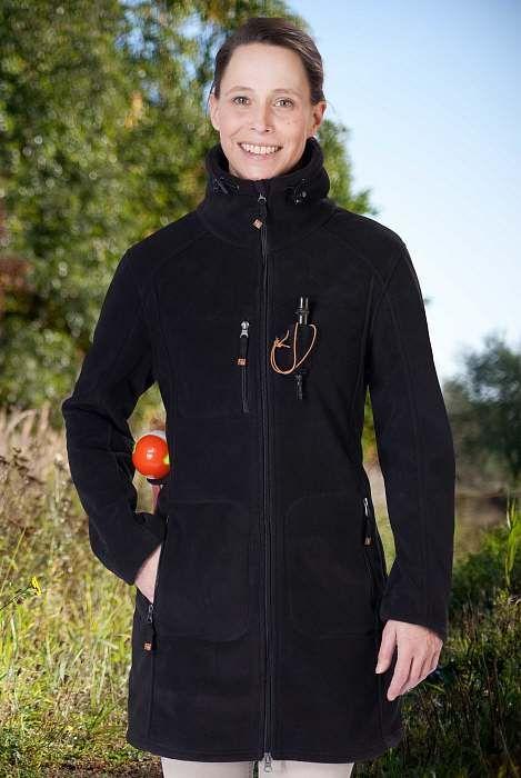 Damen Fleece und Softshell > Damen Fleecejacke ELLA in schwarz Good Boy - Bekleidung für Hundehalter