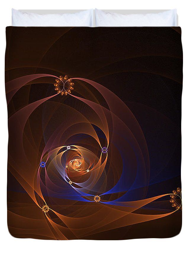 Fractal Duvet Cover featuring the digital art Floral Swirl by Elena Ivanova IvEA   #ElenaIvanovaIvEAFineArtDesign #ForHome #DuvetCovers #Gift