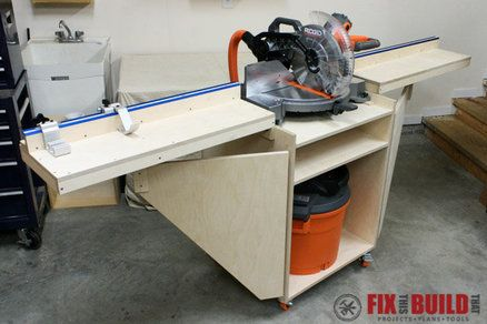 Mobile Miter Saw Station | Projects to Try | Pinterest | Storage, Garage makeover and Garage plans