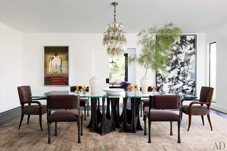 30 Amazing Celebrity Dining Rooms Darren Star's fantastic dining space designed by architect Mark Rios and designer Waldo Fernandez