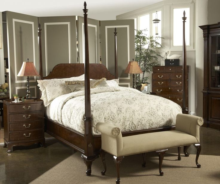 25 best ideas about four poster bed frame on pinterest - Four post king size bedroom sets ...