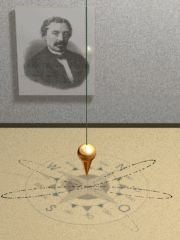 Foucault pendulum animated. This Day in History: Sep 18, 1819: Foucault pendulum inventor, Léon Foucault, is born