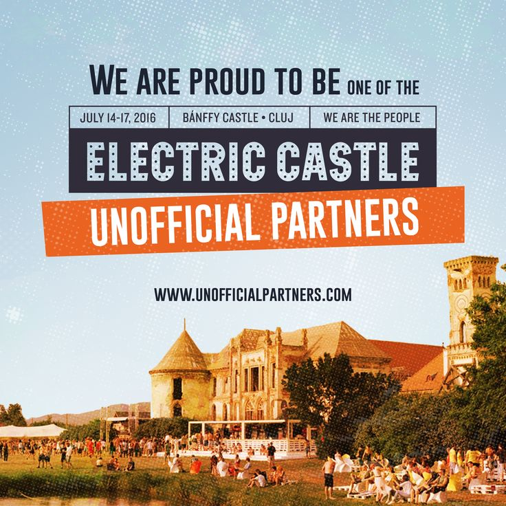 Kid you not: not only we're attending the festival, like every year, but we're also an official partner of fun at Electric Castle, supporting the ‪#‎electricmonday‬ with a day off after the festival! ‪#‎makeitso‬