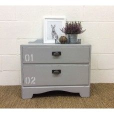 Industrial Style Chest of 2 Drawers