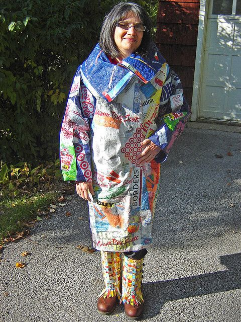"""21st Century Fusion"" fused plastic bags coat By Mary Anne Enriquez: Recycled Plastic, Century Fusion, Fused Plastic Coats, Clothing Ideas, Plastic Bags, 21St Century, Kids Clothing, Bags Coats, Crafty Ideas"