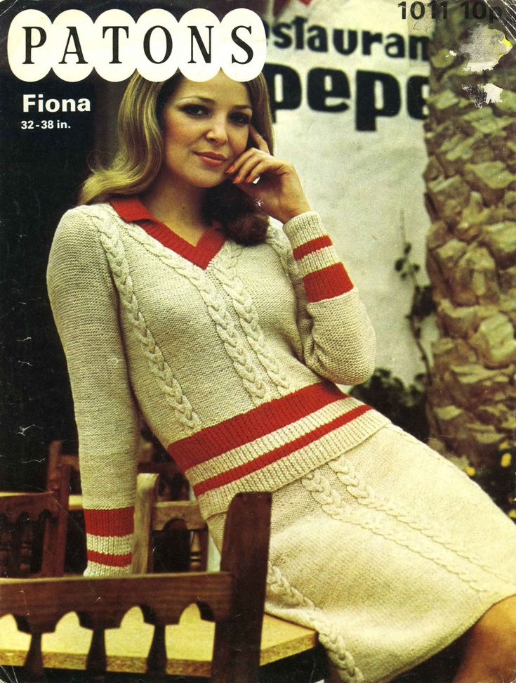 Vintage Ladies Sweater/Jumper Suit (Sweater/Jumper and Skirt) Knitting Pattern, 1960/1970 (PDF) Pattern, Patons 1011 by LittleJohn2003 on Etsy