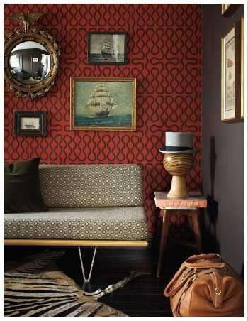 "Cole & Son - Vivienne Westwood ""Squiggle"" wallpaper (room by Tamara Kaye-Honey, via TRADhome)."