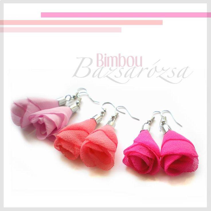 rózsaszín, korall, pink, virág bimbó, fülbevaló, Bazsarózsa