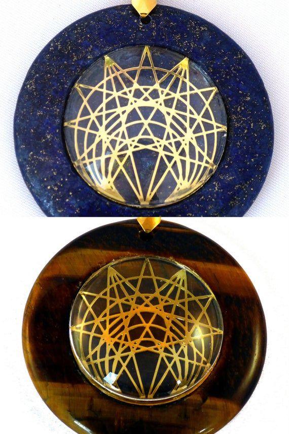Heart Chakra Circular Sacred Geometry Pendants