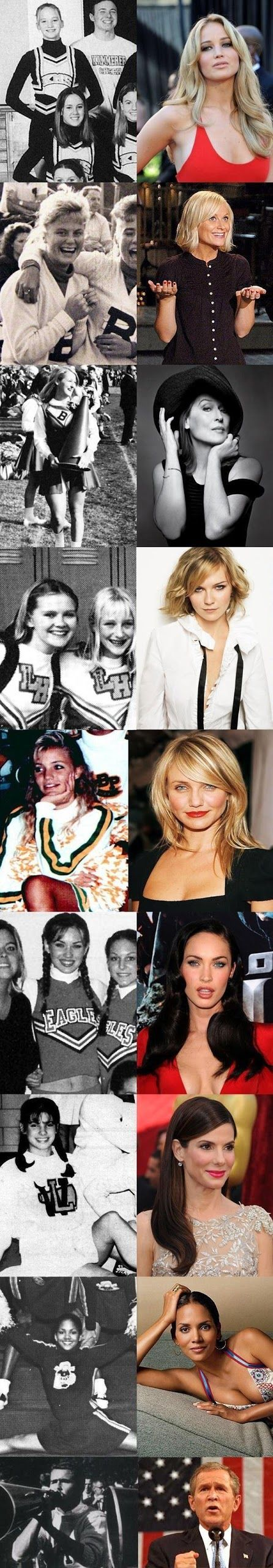 Funny Pictures: Stars Then and Now! (Cheerleader Edition)