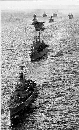 Task Force Fleet - Falklands war
