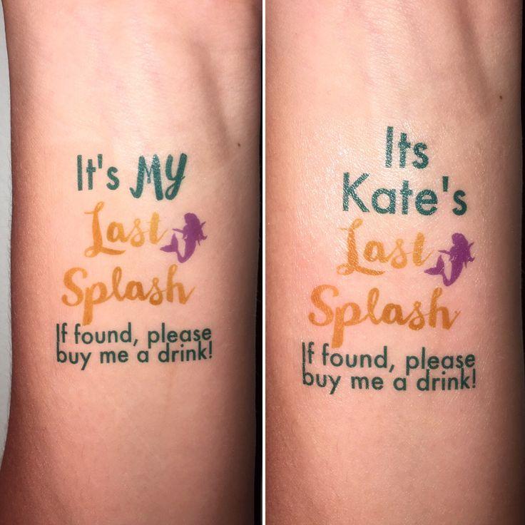 15 Custom Mermaid Temporary Bachelorette Tattoos - Last Splash - Under the Sea - Beach by KateLovesToCraft on Etsy https://www.etsy.com/listing/454829054/15-custom-mermaid-temporary-bachelorette