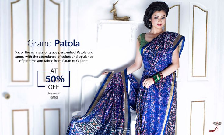 Princely #PatolaSilks Launched at 50% #Discount