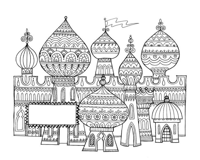 Coloring Pages For Adults Castle : Images about colorable pages on pinterest coloring