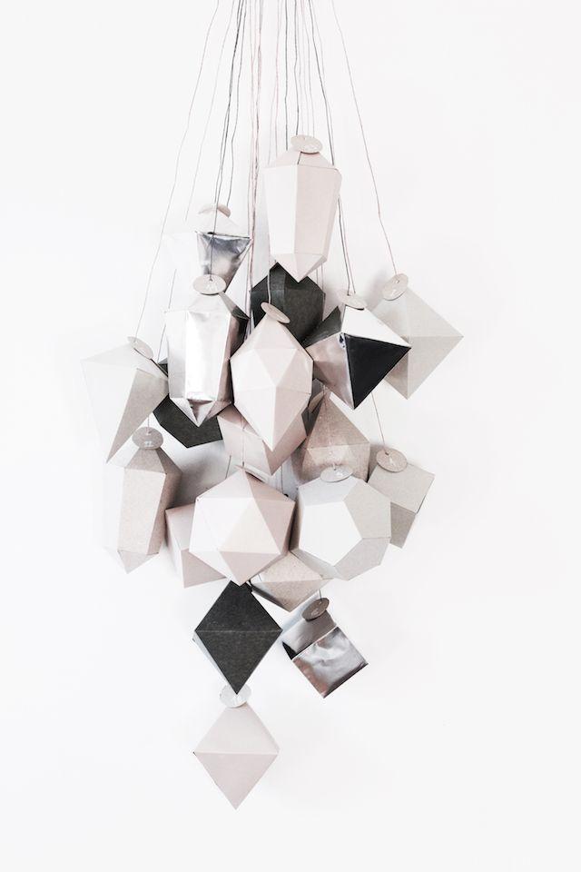 DIY minimalist Advent Calendar by So Soft Sunday.