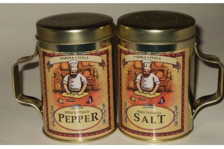 These salt and pepper shakers are just what you need for your fat chef themed kitchen. $14.95