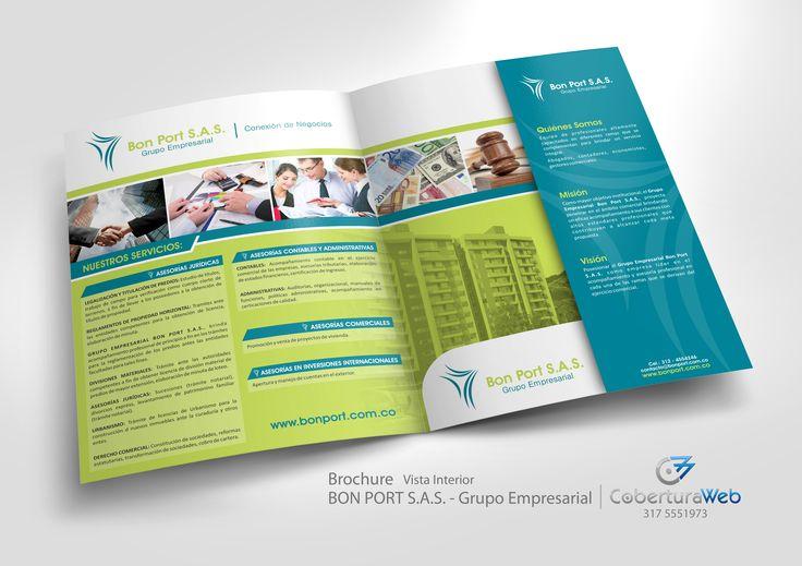 Compañía: Bon Port S.A.S.  País: Colombia   Diseño: Brochure - Vista Interior