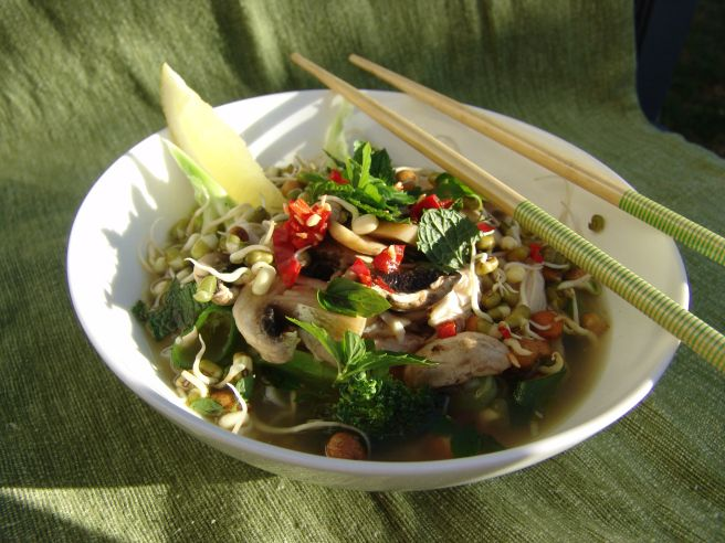 Home made chicken pho recipe http://withsunlightandcoffee.com/2015/02/18/chicken-pho-for-the-soul/