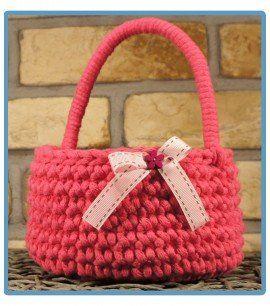ręcznie robiony koszyk klara handmade ze sznurka bawełnianego