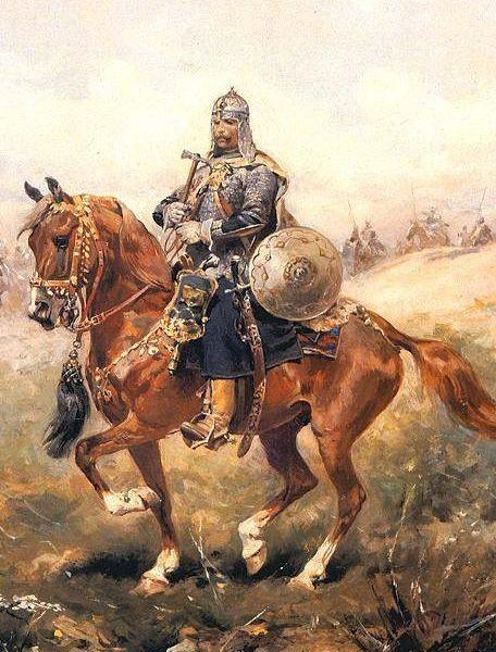 30 Years War Towarzysz Pancerny (Heavy Armoured Companion Cavalryman) with Nadziak (Horseman's pick) by Józef Brandt.
