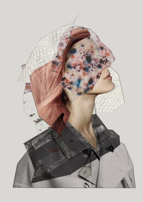 Fashion Illustration. This is a collage using different materials that make the image unrealistic showing disorder because its a disorder of the body