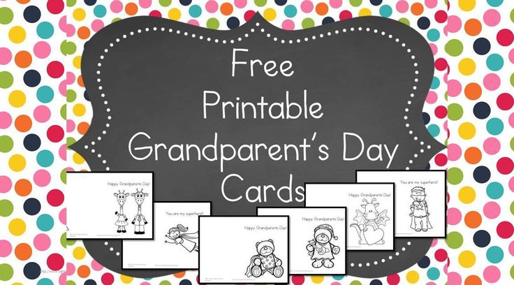 Printable Grandparents Day Cards Help put a smile on Grandma and Grandpa's face with these cute, free, Printable Grandparents Day Cards -Fun to color and send!