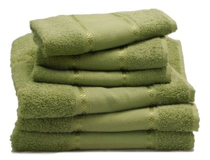 Couple of bath towels - Thyme From Grigoletto Filati - Bathroom - Ready to Stitch - Casa Cenina