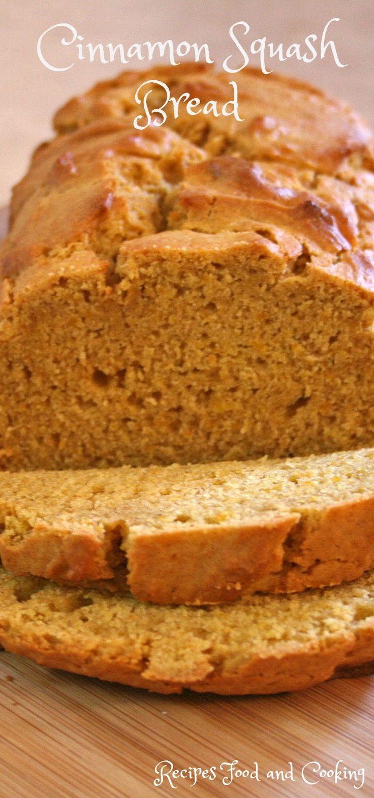 Cinnamon Squash Bread Use up any leftover butternut squash in this easy quick bread recipe for Cinnamon Squash Bread.