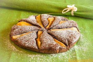 #torta al #cacao con #pera e #cannella