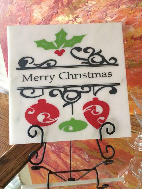 Merry Christmas Tile Plaque