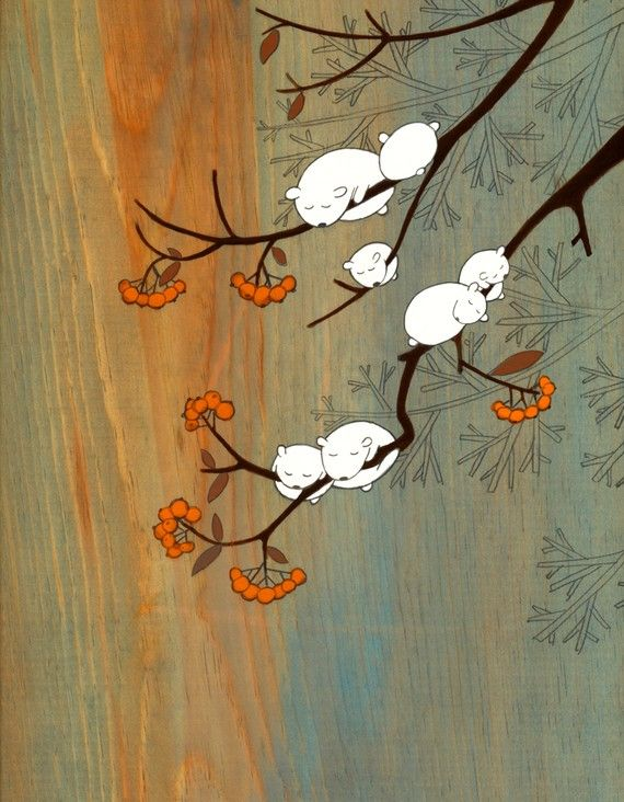 Cloudberries  firmato Art Print di krisblues su Etsy