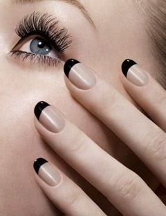 upside down french manicure - Google Search