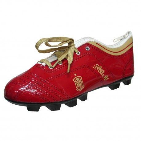 Estuche portatodo Selección Española con forma de bota. Tamaño: 23x8x7cm. 9,44 €. Este y más #merchandising de #fútbol barato en nuestra tienda.