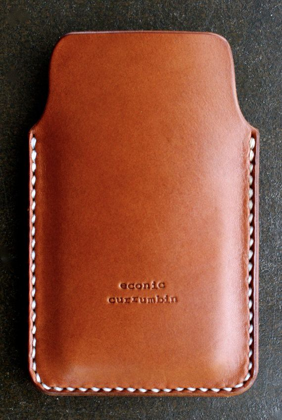 iPhone 6 plus case/sleeve/cover leather brown by econiccurrumbin