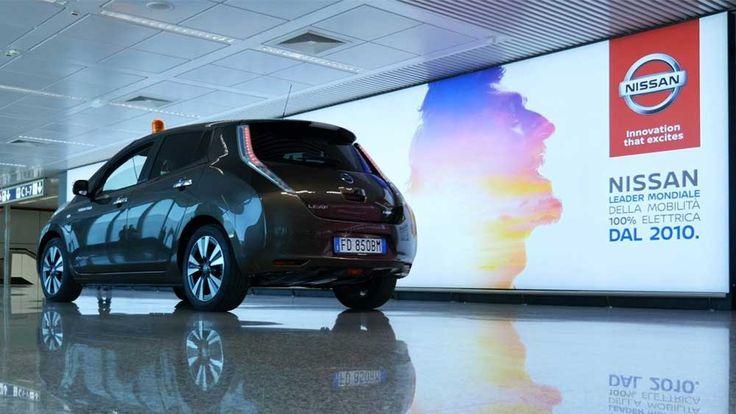 Nissan Leaf: la prima auto elettrica alla portata di tutti! Scoprila al terminal 1 dell'Aereoporto di Fiumicino a Roma!!