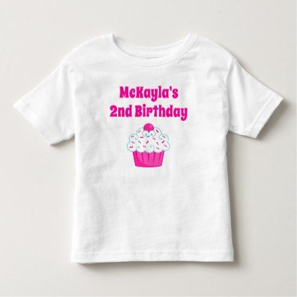 Cupcake Birthday T-shirt Toddler Kid  $16.95  by SquigglesDesigns  - cyo diy customize personalize unique